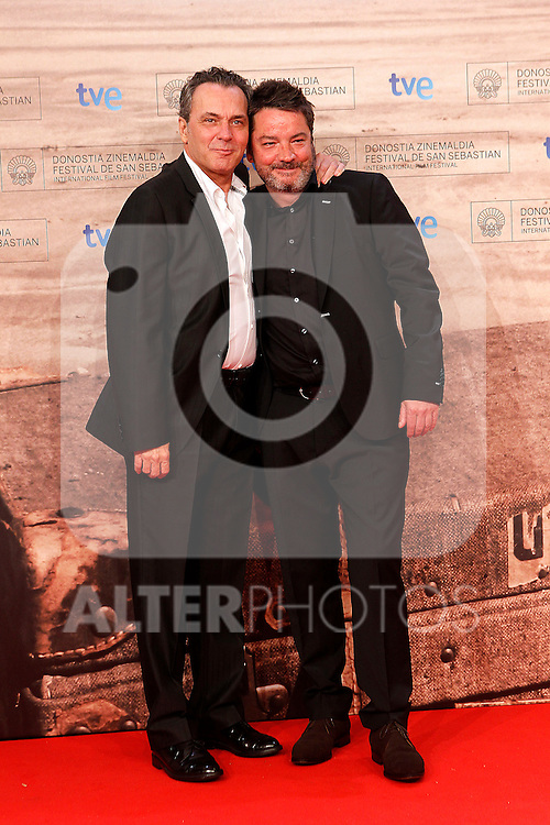 Spanish director Enrique Urbizu (r) poses with Spanish actor Jose Coronado during the 59th San Sebastian Donostia International Film Festival - Zinemaldia.September 17,2011.(ALTERPHOTOS/ALFAQUI/Acero)