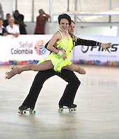 CALI – COLOMBIA – 22 – 09 – 2015: Anthony DeLuca y Jessica Gaudy, deportistas de Estados Unidos, durante en Parejas Danza Mayores, en el LX Campeonato Mundial de Patinaje Artistico, en el Velodromo Alcides Nieto Patiño de la ciudad de Cali. / Anthony DeLuca y Jessica Gaudy, skaters from Unitrd States, during the Senior Couple Dance, in the LX World Championships Figure Skating, at the Alcides Nieto Patiño Velodrome in Cali City. Photo: VizzorImage / Luis Ramirez / Staff.