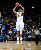 Allen Crabbe of California shoots the ball during the game against Utah at Haas Pavilion in Berkeley, California on January 14th, 2012.  California defeated Utah, 81-45.