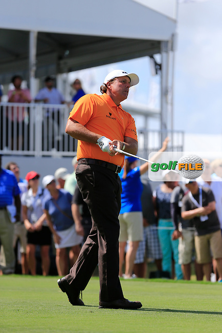 Phil Mickelson (USA) during the 1st round at the WGC Cadillac Championship, Blue Monster, Trump National Doral, Doral, Florida, USA<br /> Picture: Fran Caffrey / Golffile