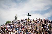 crowded up the infamous Muur van Geraardsbergen / Kapelberg<br /> <br /> Stage 1: Brussels to Brussels(BEL/192km) 106th Tour de France 2019 (2.UWT)<br /> <br /> ©kramon