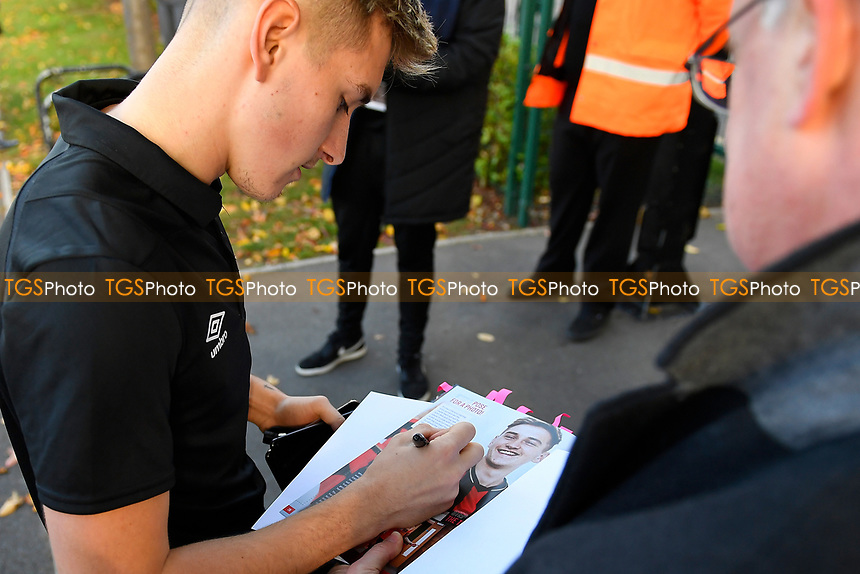 David Brooks of AFC Bournemouth signs an autograph during AFC Bournemouth vs Manchester United, Premier League Football at the Vitality Stadium on 3rd November 2018