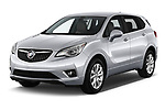 2019 Buick Envision Preferred FWD 5 Door SUV angular front stock photos of front three quarter view