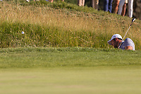 Adrian Otaegui (ESP) on the 18th tee during the third round of the Mutuactivos Open de Espana, Club de Campo Villa de Madrid, Madrid, Madrid, Spain. 05/10/2019.<br /> Picture Hugo Alcalde / Golffile.ie<br /> <br /> All photo usage must carry mandatory copyright credit (© Golffile | Hugo Alcalde)