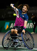 Rotterdam, The Netherlands, 14 Februari 2020, ABNAMRO World Tennis Tournament, Ahoy, Wheelchair: Alfie Hewett (GBR), Stephane Houdet (FRA).<br /> Photo: www.tennisimages.com