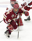Kalley Armstrong (Harvard - 13), Blake Bolden (BC - 10) - The Boston College Eagles defeated the Harvard University Crimson 4-2 in the 2012 Beanpot consolation game on Tuesday, February 7, 2012, at Walter Brown Arena in Boston, Massachusetts.