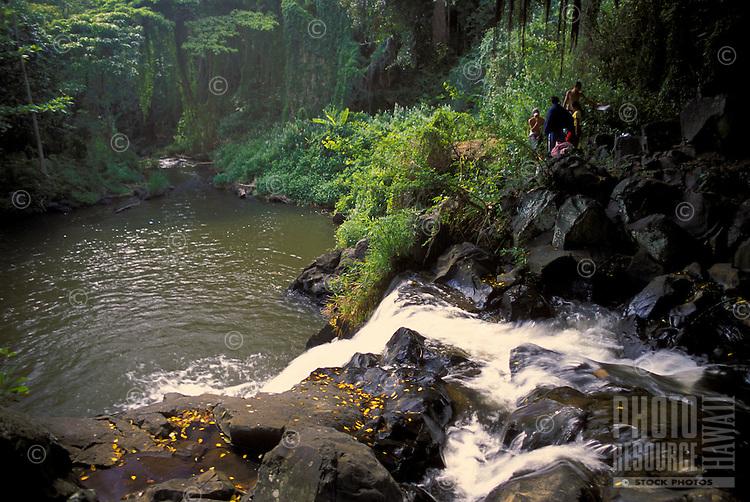 Kapena falls, Nuuanu valley, Island of Oahu