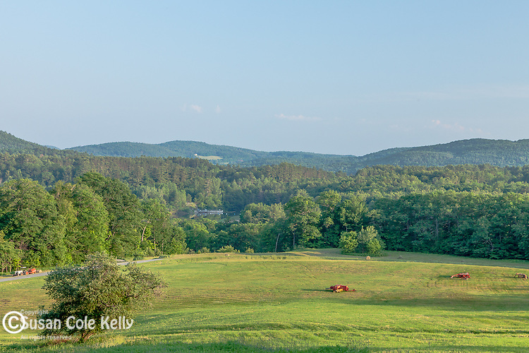 A pasture in Quechee village, Hartford, VT, USA