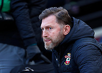 29th February 2020; London Stadium, London, England; English Premier League Football, West Ham United versus Southampton; Southampton Manager Ralph Hasenhuttl looks on from the dugout