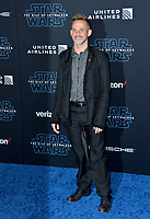 "LOS ANGELES, USA. December 17, 2019: Dominic Monaghan at the world premiere of ""Star Wars: The Rise of Skywalker"" at the El Capitan Theatre.<br /> Picture: Paul Smith/Featureflash"