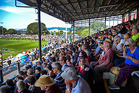 Fans watch the Super Rugby preseason match between the Hurricanes and Crusaders at Levin Domain in Levin, New Zealand on Saturday, 2 February 2019. Photo: Dave Lintott / lintottphoto.co.nz
