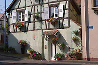 half timbered house dahlenheim alsace france