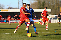 Dominic Poleon of Crawley Town and Fiacre Kelleher of Macclesfield Town during Crawley Town vs Macclesfield Town, Sky Bet EFL League 2 Football at Broadfield Stadium on 23rd February 2019