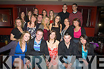 18TH: 18th Birthday celebratyion were in full swing at Lawlors bar, Listowel on Friday night for Siobhan Mulvihill, (Glin) as she celebrated her 18th with friends (Siobhan is seated centre). ... ....
