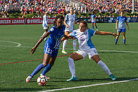 Allston, MA - Saturday August 19, 2017: Ifeoma Onumonu, Monica Hickmann Alves during a regular season National Women's Soccer League (NWSL) match between the Boston Breakers and the Orlando Pride at Jordan Field.