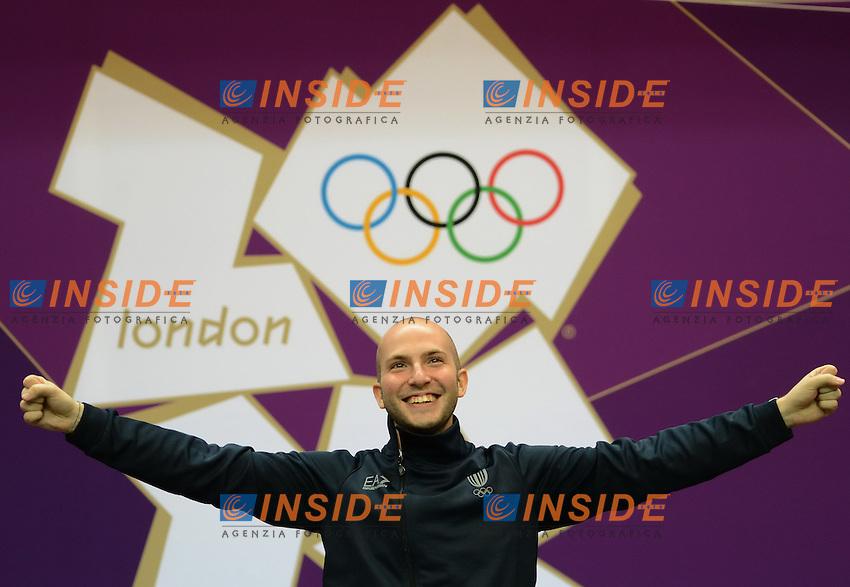 Niccolo Campriani.Finale Carabina  50m 3 posizioni. Londra 2012 Olympic Games, London, Britain, Aug. 6, 2012..foto Insidefoto /  imago/ Xinhua..ITALY ONLY