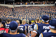 PHILADELPHIA, PA. - DEC 12 2015: The Midshipmen and Black Knights stand together after the game during the singing of Navy's fight song at Lincoln Financial Field Philadelphia, PA. (Photo by Phil Peters/Media Images International)