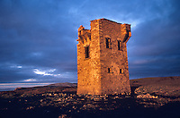 Glen Head Tower at sunset near Glencolumbkille, County Donegal, Ireland, AGPix_0009