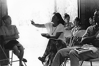 Member of the community participating in public discussions and debate around the future direction of the agricultural cooperative.<br />