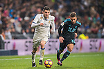 Mateo Kovacic (l) of Real Madrid battles for the ball with Kevin Rodrigues of Real Sociedad during their La Liga match between Real Madrid and Real Sociedad at the Santiago Bernabeu Stadium on 29 January 2017 in Madrid, Spain. Photo by Diego Gonzalez Souto / Power Sport Images