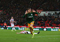 Preston North End's Brad Potts celebrates scoring his side's second goal <br /> <br /> Photographer Stephen White/CameraSport<br /> <br /> The EFL Sky Bet Championship - Stoke City v Preston North End - Saturday 26th January 2019 - bet365 Stadium - Stoke-on-Trent<br /> <br /> World Copyright © 2019 CameraSport. All rights reserved. 43 Linden Ave. Countesthorpe. Leicester. England. LE8 5PG - Tel: +44 (0) 116 277 4147 - admin@camerasport.com - www.camerasport.com