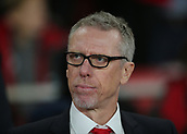 14th September 2017, Emirates Stadium, London, England; UEFA Europa League Group stage, Arsenal versus FC Cologne; FC Koln Manager Peter Stoger prepares for kick off