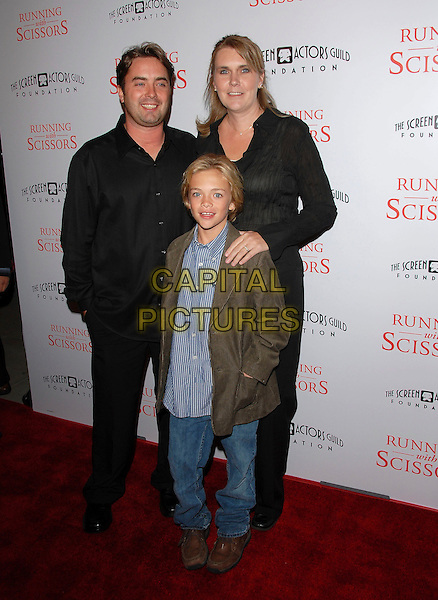 "JACK KEADING & FAMILY.attends The TrisStar Pictures' World Premiere of ""Running with Scissors"" held at The Academy of Motion Pictures Arts & Sciences in Beverly Hills, California, USA, October 10th 2006..full length.Ref: DVS.www.capitalpictures.com.sales@capitalpictures.com.©Debbie VanStory/Capital Pictures"
