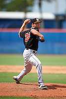 GCL Marlins pitcher Jeff Kinley (35) delivers a pitch during the first game of a doubleheader against the GCL Mets on July 24, 2015 at the St. Lucie Sports Complex in St. Lucie, Florida.  GCL Marlins defeated the GCL Mets 5-4.  (Mike Janes/Four Seam Images)