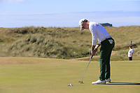 Brandon Stone (RSA) sinks his putt on the 1st green during Friday's Round 2 of the 2018 Dubai Duty Free Irish Open, held at Ballyliffin Golf Club, Ireland. 6th July 2018.<br /> Picture: Eoin Clarke | Golffile<br /> <br /> <br /> All photos usage must carry mandatory copyright credit (&copy; Golffile | Eoin Clarke)
