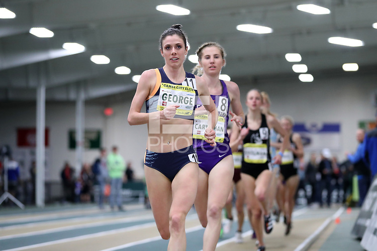 WINSTON-SALEM, NC - FEBRUARY 08: Sammy George #11 competes in the Women's Camel City Elite 3000 Meters at JDL Fast Track on February 08, 2020 in Winston-Salem, North Carolina.