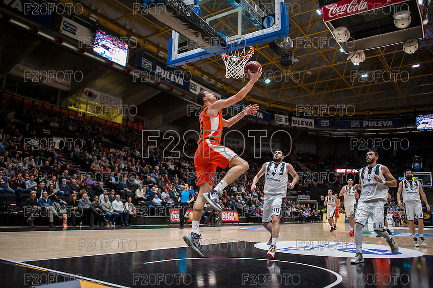 VALENCIA, SPAIN - JANUARY 6: Vladimir Lucic during EUROCUP match between Valencia Basket and PAOK Thessaloniki at Fonteta Stadium on January 6, 2015 in Valencia, Spain