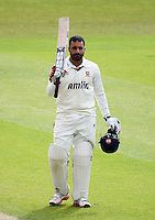 PICTURE BY VAUGHN RIDLEY/SWPIX.COM - Cricket - County Championship Div 2 - Yorkshire v Essex, Day 3 - Headingley, Leeds, England - 21/04/12 - Essex's Ravi Bopara celebrates his century.