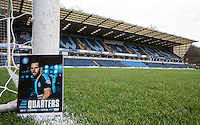 The match day programme on display during the Sky Bet League 2 match between Wycombe Wanderers and Oxford United at Adams Park, High Wycombe, England on 19 December 2015. Photo by Andy Rowland.
