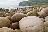 Rocky beach at Rackwick bay on the island of Hoy, Orkney, Scotland