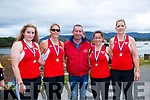 Sneem Senior ladies at Templenoe regatta on Sunday.Caroline Clifford, Fiona O'Shea, Mike O'Shea, Geraldine Breen and Lea Turner