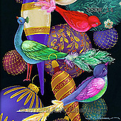 Randy, CHRISTMAS SYMBOLS, WEIHNACHTEN SYMBOLE, NAVIDAD SÍMBOLOS, paintings+++++Bird-Ornaments-detail,USRW14,#xx#