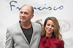 Argentinian actor Dario Grandinetti and Spanish actress Silvia Abascal pose during `Francisco´ film presentation in Madrid, Spain. September 15, 2015. (ALTERPHOTOS/Victor Blanco)