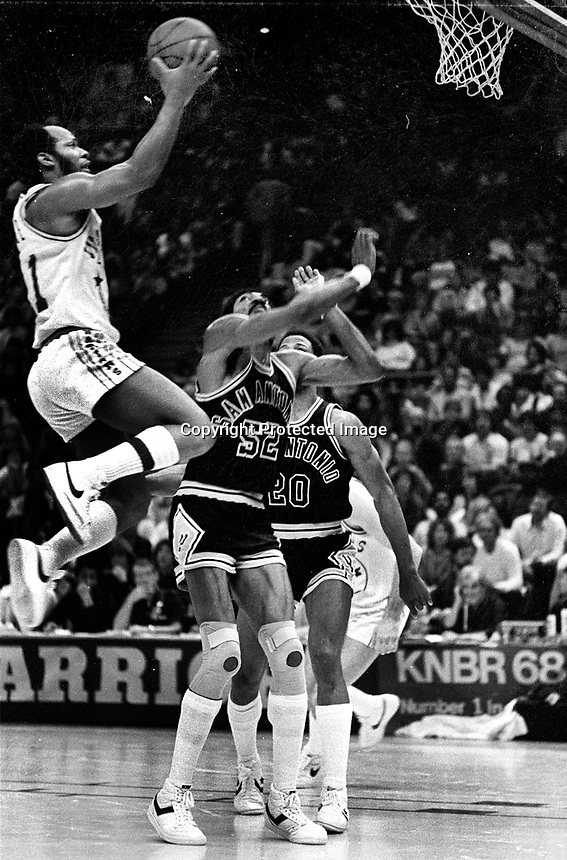 Warriors World  Free against the San Antonio Spurs..(1982 photo/Ron Riesterer)