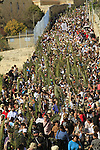 Israel, Jerusalem, Palm Sunday procession on the Mount of Olives