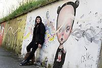 Roma, marzo 2015<br /> Murales nel quartiere popolare del Quadraro nella periferia sud est di Roma.<br /> Murales di Dilka Bear.