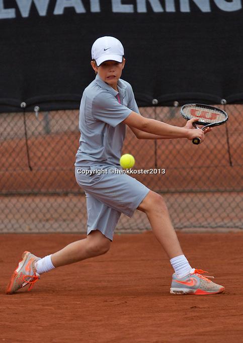 07-08-13, Netherlands, Rotterdam,  TV Victoria, Tennis, NJK 2013, National Junior Tennis Championships 2013, Christian Lerby<br /> <br /> <br /> Photo: Henk Koster