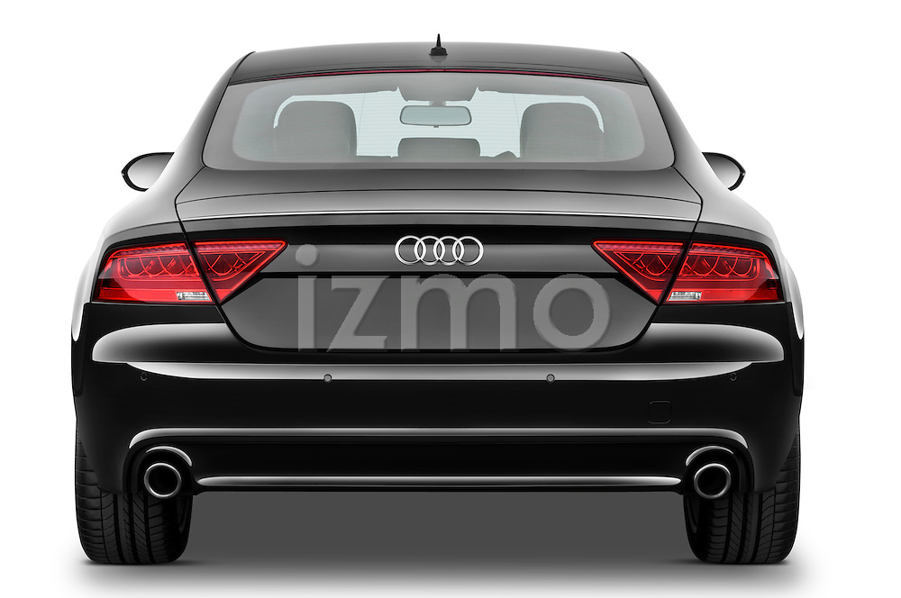Straight rear view of a 2013 Audi A7 Hatchback