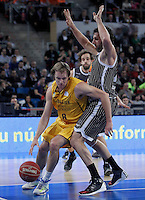 Herbalife Gran Canaria's Brad Newley (l) and Uxue Bilbao Basket's Alex Mumbru during Spanish Basketball King's Cup match.February 07,2013. (ALTERPHOTOS/Acero) /NortePhoto