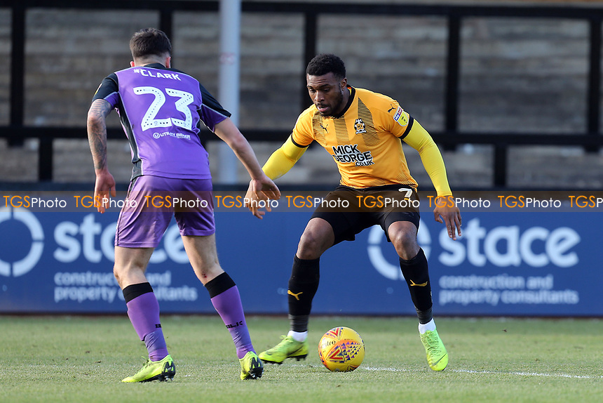 David Amoo of Cambridge United and Mitchell Clark of Port Vale during Cambridge United vs Port Vale, Sky Bet EFL League 2 Football at the Cambs Glass Stadium on 9th February 2019