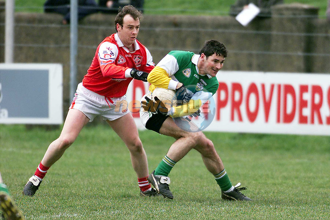 Brien Phillips in action for Louth against Offaly in the Gaelic Grounds in Drogheda..Picture: Paul Mohan/Newsfile