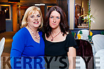 Noreen Lynch and Elaine O'Connor, pictured at the Kerry Supporters Social at Ballygarry House Hotel and Spa, Tralee, on Saturday night last.