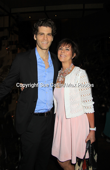 """As The World Turns' Colleen Zenk poses with Josh Davis at the Season Four Premiere Party for Empire The Series """"Some of the Biggest Scandals Don't Make The Papers"""" on July 14, 2012 at the Tribeca Grand, New York City, New York with the cast. (Photo by Sue Coflin/Max Photos)"""