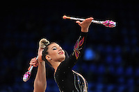 """DANIELLE PRINCE of Australia performs at 2011 World Cup Kiev, """"Deriugina Cup"""" in Kiev, Ukraine on May 7, 2011."""