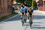 The breakaway during Stage 1 of the Deutschland Tour 2019, running 167km from Hannover to Halberstadt, Germany. 29th August 2019.<br /> Picture: ASO/Marcel Hilger | Cyclefile<br /> All photos usage must carry mandatory copyright credit (© Cyclefile | ASO/Marcel Hilger)