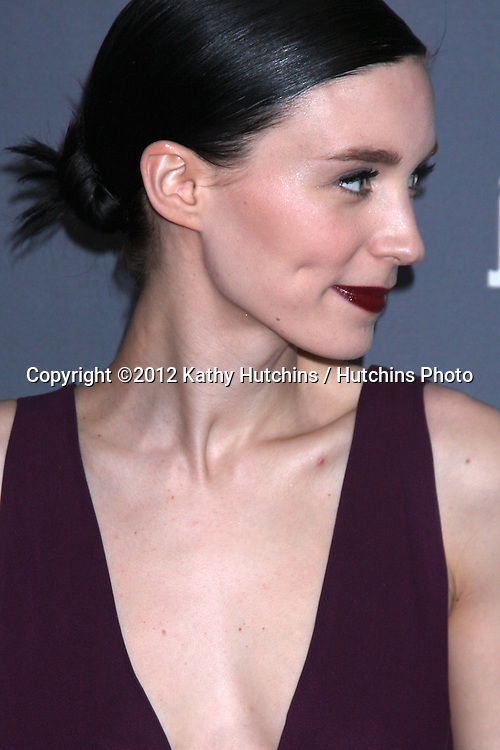 LOS ANGELES - FEB 21:  Rooney Mara arrives at the 14th Annual Costume Designers Guild Awards at the Beverly Hilton Hotel on February 21, 2012 in Beverly Hills, CA.